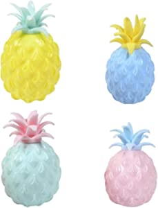 Sensory Fidget Toys Ball, 4Pcs Pineapple Stress Relief Balls, Anti-Anxiety Fruit Squeeze Toys, Pressure Reliever Tools Set for ADHD Kids Adult, Ati-Stress Relax Balls Pressure Release Party Gifts
