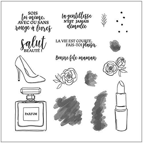 Französisches Alphabet Silikonstempel, durchsichtige Stempel für Karten, die DIY klares Stempel-Haftsiegel-Sammelalbum-Prägealbum machen