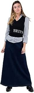 Lottie Long Denim Skirt - Darkwash Maxi Jean Skirt with Stretch US 6-20