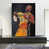 GJQFJBS Baloncesto Jugador Estrella Cartel Lienzo Impresión Moderno Mural Artista Decoración del Hogar Niño Dormitorio Mural A2 40x50cm