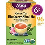 Yogi Tea - Green Tea Blueberry Slim Life - Energizes and Supports a Dieting Program - 6 Pack, 96 Tea...