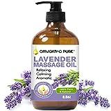Lavender Massage Oil for Body, 250ml Natural Lavender Body Oil for Romantic, Relaxing, Aromatic, Soothing Massage Oil for Massage Therapy