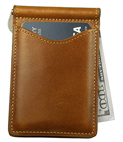 Palm West genuine leather wallets offer a slim design and RFID blocking protection, perfect for front and back pocket use