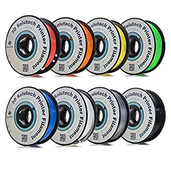 3D Solutech - 3DS8PACKS B07HFKNGNT 3D Printer PLA Filament Bundle 1.75MM Dimensional Accuracy +/- 0.03 mm 2.2 lbs 1.0KG  Multi-Pack of 8