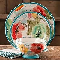 12-Piece The Pioneer Woman Vintage Bloom Dinnerware Set