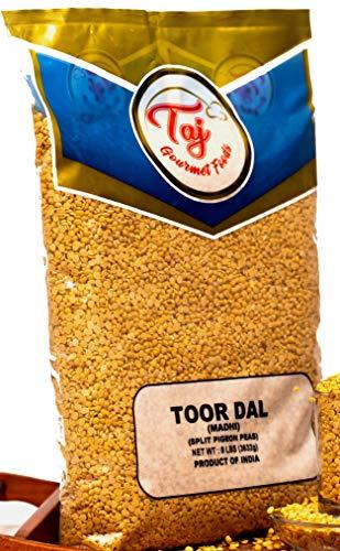 TAJ Premium Indian Toor Dal Kori, Unoily, Madhi, (8-Pounds)