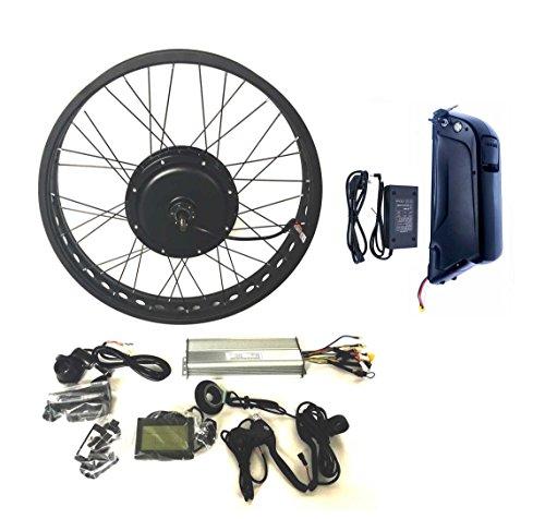 theebikemotor 48V1000W Hub Motor 12Ah Panasonic Cell Ebike Batería Bicicleta ELÉCTRICA Kit DE CONVERSIÓN 4.0 Fat Rim + LCD + Tire (26