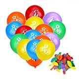 Faburo 30Pcs Luftballons Schulanfang Ballon Einschulung Deko mit 123 ABC Zuckertüte Bedruckt für Schulanfang Deko Schule Erster Schultag