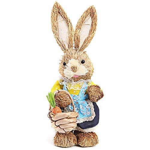 Osterhase Stehender Hase Stehstrohkaninchen Ostern Simulation Kaninchen für Ostern Home Decor Ostern Geschenk-C