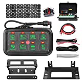 8 Gang Switch Panel, AKD Part Circuit Control Box Universal Switch Box Wiring Harness Touch Panel On Off Button for Truck Marine