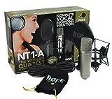 Rode NT1-KIT–A Set Micrófono de estudio + Vicoustic Flexi Screen + Soporte para micrófono Keepdrum