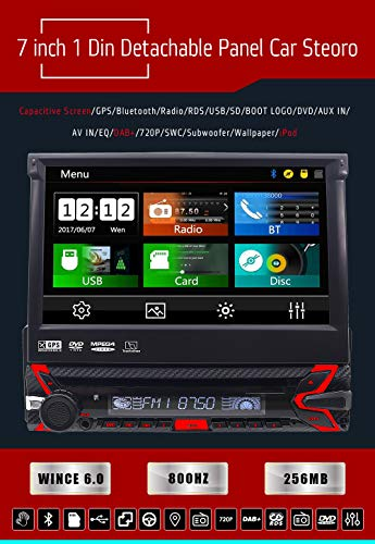 Reproductor de DVD para coche con radio estéreo Am- FM, cámara ...