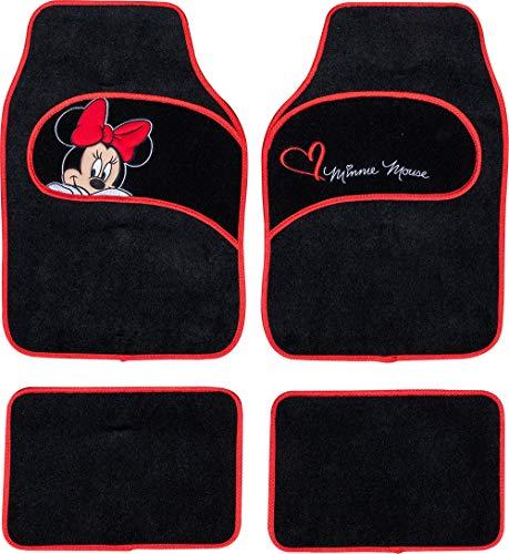 Disney Tappetini Auto in Moquette universali co Universelle Teppichautomatten mit Minnie Mouse-Stickerei, 1