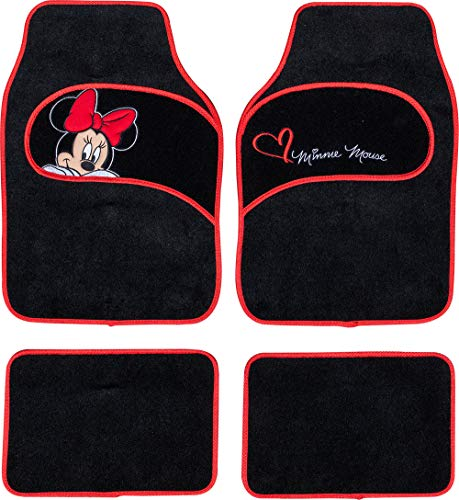 Disney Tappetini Auto in Moquette universali co Universelle Teppichautomatten mit Minnie Mouse-Stickerei, 1