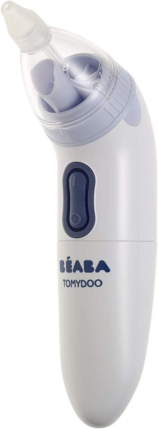 BÉABA Tomydoo, Aspirador Nasal Eléctrico para Bebés, Limpiador de nariz Portátil, Evolutivo, 3 puntas, Ultrarrápido y Fácil de Usar, Esterilizable