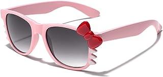 نظارات شمسية عصرية للفتيات من Hello Kitty مع ربطة عنق وشرب