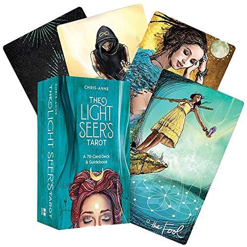 Qianghua Light Seer's Tarot (78-Karten) Cards Deck, Anfänger Guidebook (Englisch) Kartenspiel