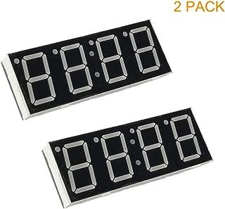 LS 2pcs LED 4-Digit 7-Segment Display Tube Module for Arduino MCU, Common-Anode LED Display Digital Tube, 72mmX26mm Red SCM Super Bright