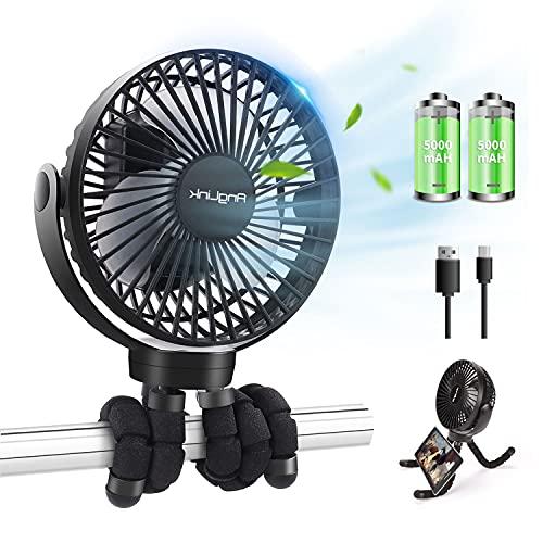 STLOVe USB Mini Ventilatori 12 Volt Doppia Testa Ventola di Raffreddamento avec Accendisigari Auto, Due velocità regolabile e rotazione manuale a 360 gradi.per Casa Ufficio Campeggio di Furgoni