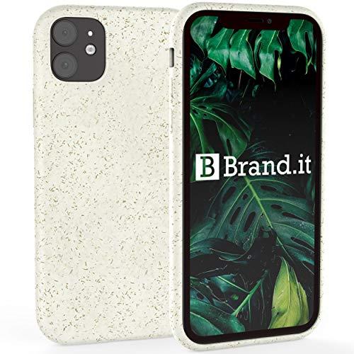 Brand.it - Eco Coque iPhone 11 I biodégradable et compostable I Bio Mobile Phone Case I Durable et écologique I en Bambou PLA, Blanc crème