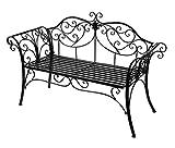 HLC, panca da giardino, in metallo anticato, da esterni, seduta...