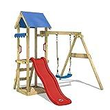 WICKEY Spielturm TinyWave Kletterturm Spielhaus mit Rutsche und Schaukel, Sandkasten und...