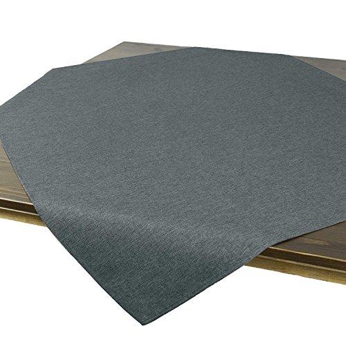 Tischdecke Wien, anthrazit, 85x85 cm, Fleckschutz, Mitteldecke für das ganze Jahr