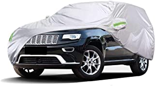 Cubiertas de Coche Fundas for automóviles compatibles con Jeep Grand Cherokee Resistente al agua Todo clima Resistente al viento A prueba de polvo Lluvia A prueba de nieve Protección solar UV Respirab