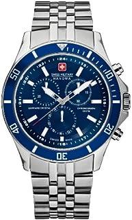 Swiss Military - 06-5183.04.003 - Reloj analógico de Cuarzo para Hombre con Correa de Acero Inoxidable, Color Plateado