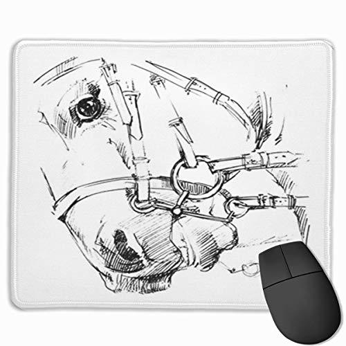 Muiskussen, bureaumuis, muiskussens, muismat actieve paardensport paardenschets dier wedstrijd dressuur paard snel