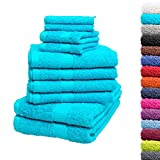 10tlg. Handtuch Set Premium 100% Baumwolle 2 Duschtücher 4 Handtücher
