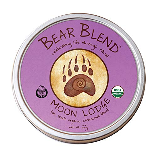 Moon — Bear Blend Organics Ceremonial Herbal Smoking Blend — Handcrafted Nicotine-Free Tobacco Alternative Used with Herbal Cigarettes, Pipes, and Tea