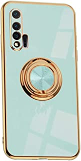 Hicaseer Case for Huawei Nova 6,Ultra-Thin Ring Shockproof Flexible TPU Phone Case with Magnetic Car Mount Resist Durable ...