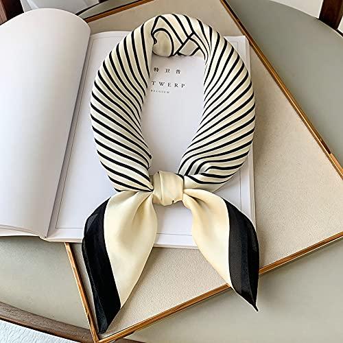 feiren Foulard d'été carré 2021 pour femme - Châles et écharpes tendance pour le bureau - 70 x 70 cm - Couleur : voir tableau 1