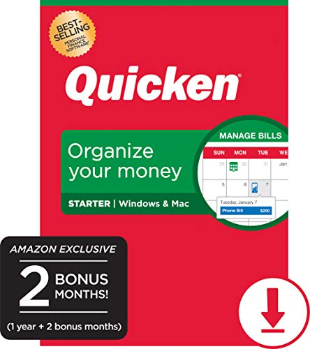 Quicken Starter Personal Finance - 14-Month Subscription [Amazon Exclusive] [PC/Mac Online Code]
