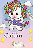 Caitlin: Notebook (Journal) for girls 120 lined pages to write in (7*10) (journal) (lined) (writing) (notebook) (personalized) (pages) (pink) (yellow)