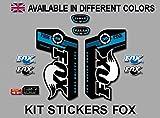 Ecoshirt FD-D5L3-HETQ Pegatinas Fox Float Talas 36 Pda08 Stickers Aufkleber Decals Autocollants Adesivi, Azul