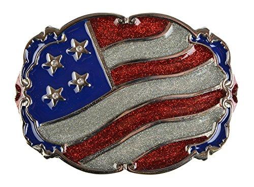 Riemgesp voor mannen riemsluiting USA vlag cadeau voor Kerstmis gesp riem wisselgesp 11,7 x 8,5 cm