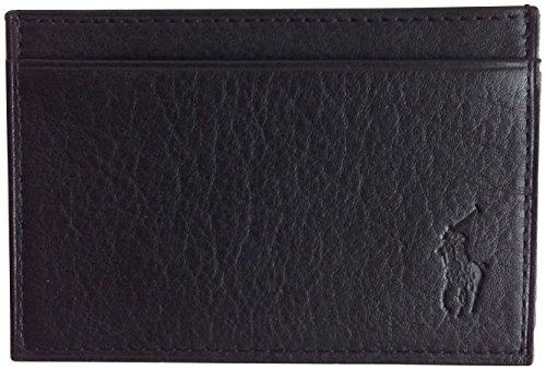 Polo Ralph Lauren Pebble Leather Slim Card Case Black Credit card Wallet