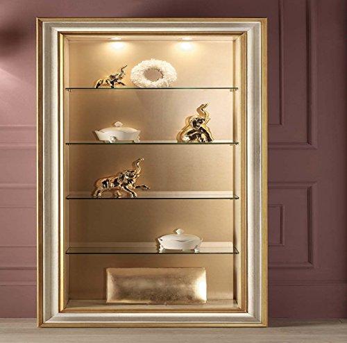 Legno&Design Bibliothèque avec spots et étagères en cristal.