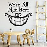 Dessin animé fou clown stickers muraux décoration murale amovible enfants chambre...