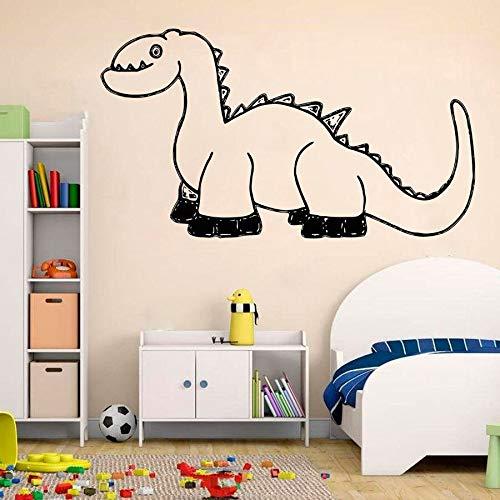 Dinosaurio pegatinas de pared niños niños dormitorio habitación de bebé jardín de infantes sala de juegos decoración del hogar dibujos animados lindo arte mural vinilo pegatinas de pared