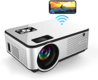 """MO C9 Mini LED Projector Supports Full HD 1080p Wifi Screen Mirroring 3000 Lumens Indoor, Outdoor Home Theater 200"""" Screen..."""