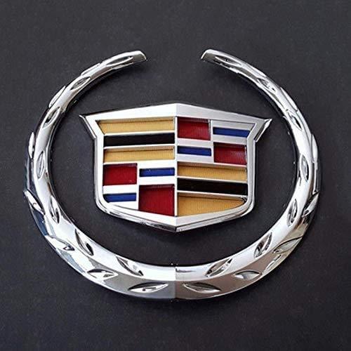 """Guzetop 6"""" Front Grille Emblem Hood Badge Logo Chrome Color Symbol for Cadillac"""