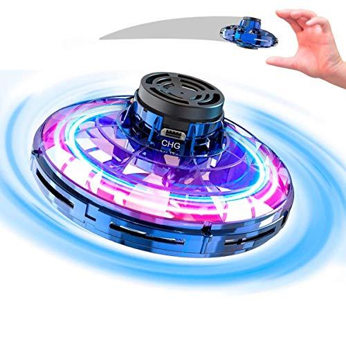 UFO Drohne, Drohne für Kinder mit Intelligente Sensortechnologie, Vier Arten von Flugspielmodi, LED Bunte Lichter, USB-Schnellladung, Ideales Weihnachts/Geburtstagsgeschenk für Kinder und Erwachsene