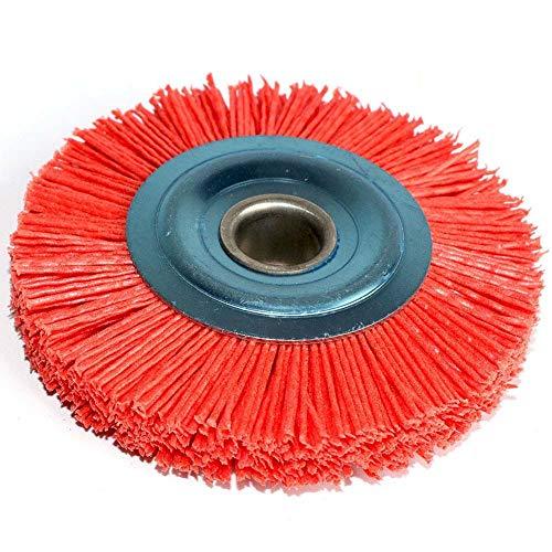 Cepillo de pulido 1pc 100 * 16mm 4 pulgadas Nylon Abrasivo Cepillo de la rueda de la rueda 120-600 Polímero-Abrasivo Alambre Dibujo Redondo Pulido Cepillo de pulido DURBURACIÓN ( Color : Grit 180 )