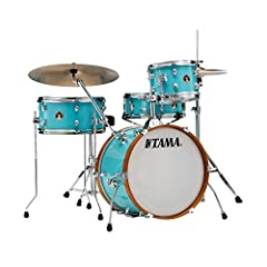 Bass Drum 12 x 18 inches (30.5 x 30.5 cm), Tom 7 x 10 inches (17.8 x 25.4 cm), Floor tom 7 x 14 inches 17.8 x 25.6 cm), Snare 5 x 13 inches (12.7 x 33 cm). Single tom holder, cymbal arm. Colour: Aqua blue. DSS48LJ Bag. Cymbal and other accessories no...