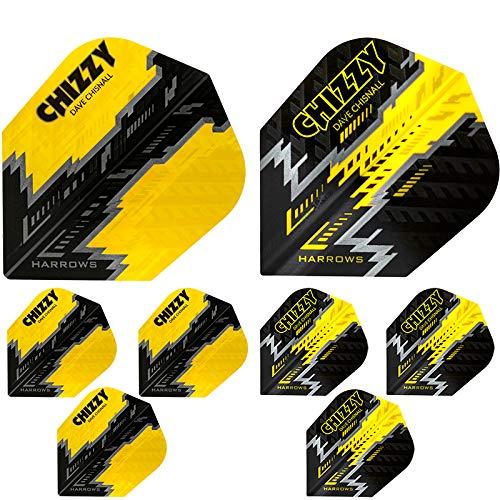 Harrows Dave Chisnall Chizzy Doppelpack Prime Dart Flight speziell laminiert
