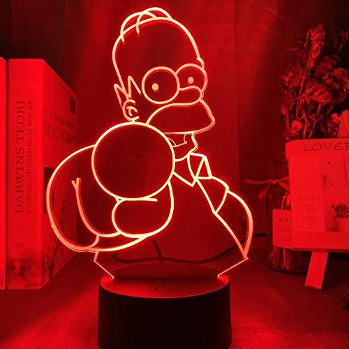 Lámpara de ilusión LED de luz nocturna 3D, figura de Simpson Regalo de cumpleaños único para niños Decoración de dormitorio infantil USBFFFZDCKAY