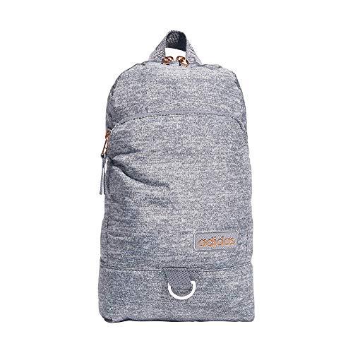 adidas Bolso bandolera convertible Essentials para mujer, Mujer, Bandolera, 979027, Jersey Grey/Rose Gold/Onix Grey, Talla única